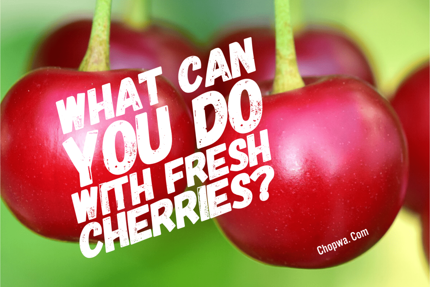 Fresh cherries recipes